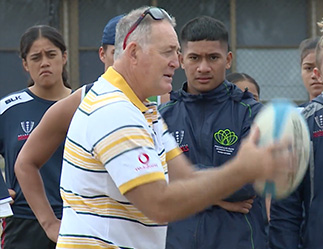 David Campese joins the Classic Wallabies