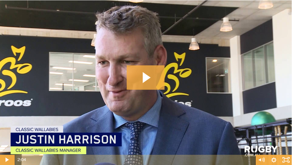 WATCH – Justin Harrison announced as Classic Wallabies General Manager