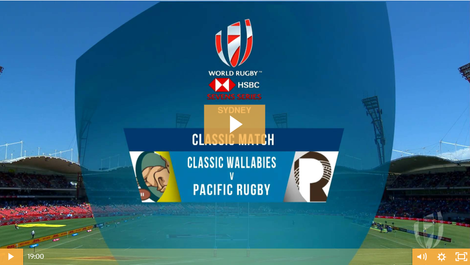 WATCH – Classic Wallabies vs Pacific Legends at the 2019 Sydney 7's