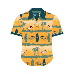 Classic Wallabies Hawaiian shirt front